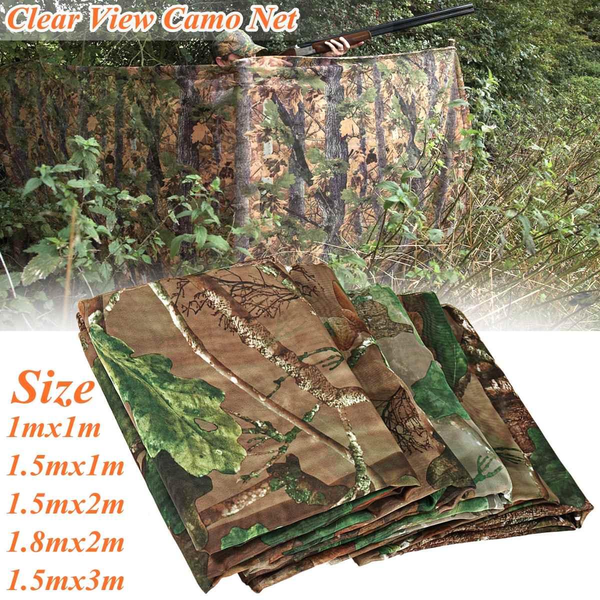 Multifunction Camo Net Hide Netting Birds Decoy Hunting Woodland Camping Military Camouflage Netting Mesh
