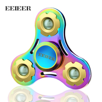 EEIEER Fidget Spinner High Speed Stainless Steel Bearing Toys For Relieving ADHD Anxiety Boredom Tri Spinner