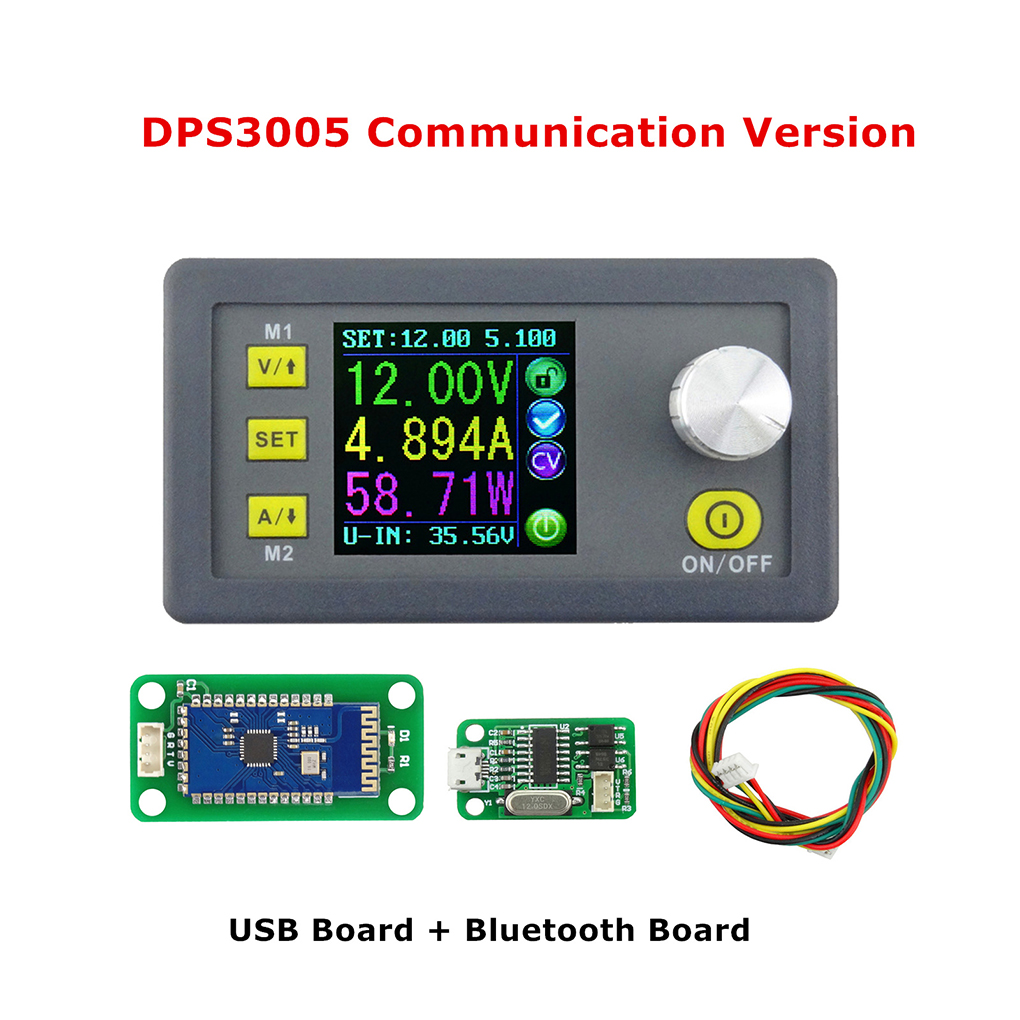 DPS3005 USB Bluetooth Communication Constant Voltage Current Step-down Power Supply Module Voltage Converter LCD Voltmeter constant digital voltage current meter step down dp50v2a voltage regulator supply module buck color lcd display converter