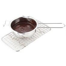 1 шт. крючок дизайн чаша из нержавеющей стали масло растопление шоколада горшок Черпак для разогрева сковорода TN99