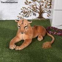 large 60cm lovely cartoon female lion plush toy soft doll pillow birthday gift s0407