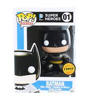 Exclusive FUNKO POP Official DC Comics: Heroes Batman Chase Metallic Variant #01 Vinyl Action Figure Collectible Model Toy