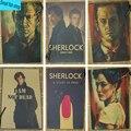Шерлок Холмс Американский Сериал Для Обустройства Дома украшения Крафт Постер Фильма Рисунок ядро Стены стикеры