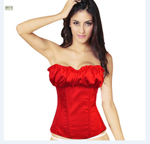 Hot Sale Sleepwear Sexy Women Corset Lace Tops Bustier Satin Embroidered shaper cinche Corsets Overbust corselet