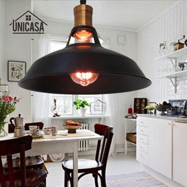 Schwarz Metall Leuchten Jahrgang Industrielle Pendelleuchten Küche Insel  Schlafzimmer Lager Decke Lampe Antike Led Leuchten