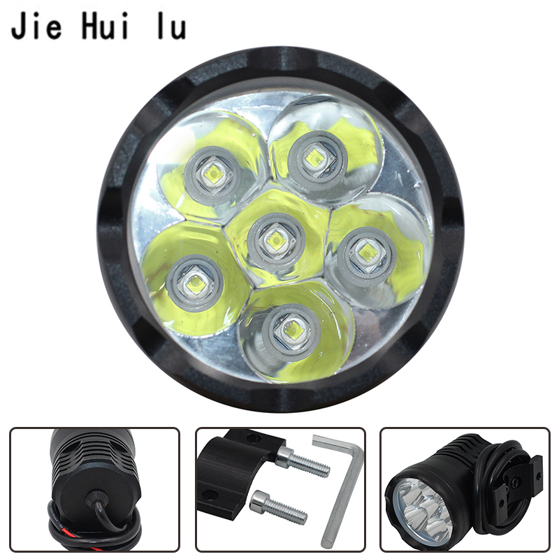 12V-85V DC 1X <font><b>90W</b></font> White 6000K 7800LM T6 <font><b>Chips</b></font> <font><b>LED</b></font> Motorcycle Headlight Fog Spot HeadLamp Spotlight Waterproof Motorbike Bulb image