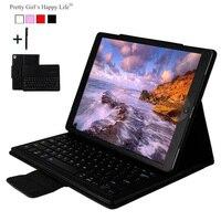 Para iPad Pro de 12 9 pulgadas 2017 carcasa de teclado Bluetooth inalámbrico para iPad Air  iPad Pro 12 9 Tablet 2017 Flip funda de soporte de cuero + Stylus|bluetooth keyboard case|case for ipad|case for ipad pro -