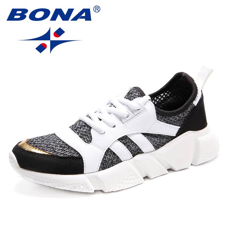 BONA New Typical Style Women Running Shoes Lace Up Women Athletic Shoes Outdoor Jogging Sneakers Comfortable Fast Free Shipping peak sport men outdoor bas basketball shoes medium cut breathable comfortable revolve tech sneakers athletic training boots