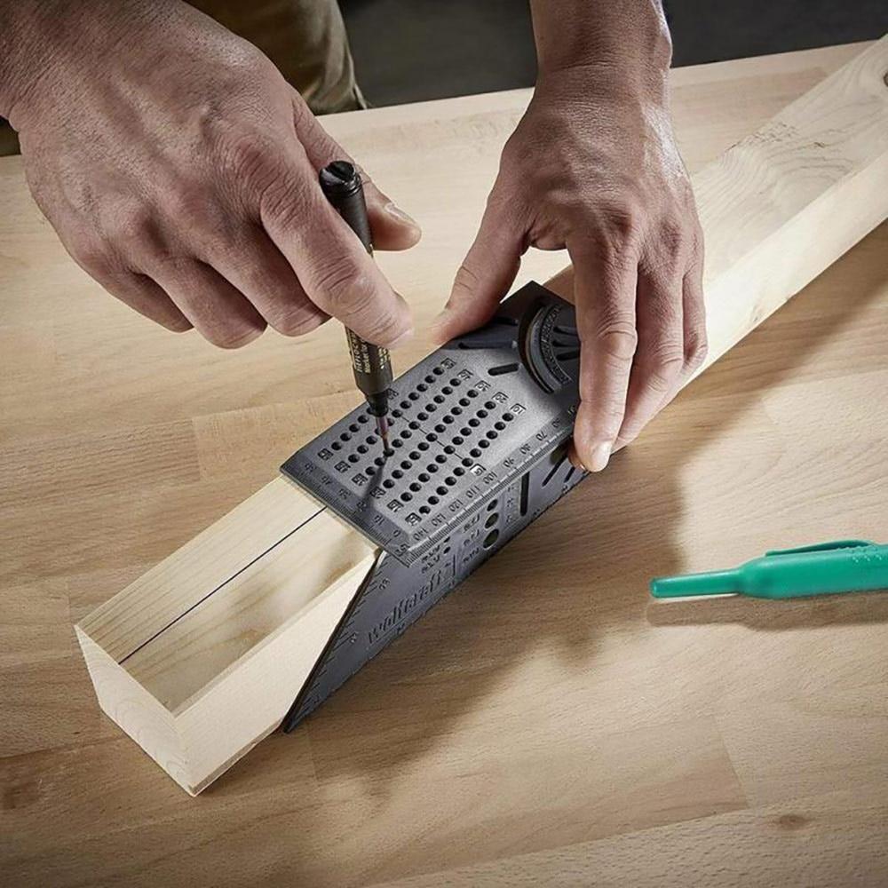 Деревообрабатывающий Scribe Mark Line Gauge Т-образная линейка квадратный макет Miter 90 градусов измерительный прибор плотник