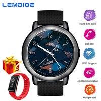 LEMDIOE 4 г Смарт часы 2 + 16 Android 7,1 полный сенсорный экран MTK6739 поддержка SIM карты Wi Fi gps Smartwatch для мужчин женщин