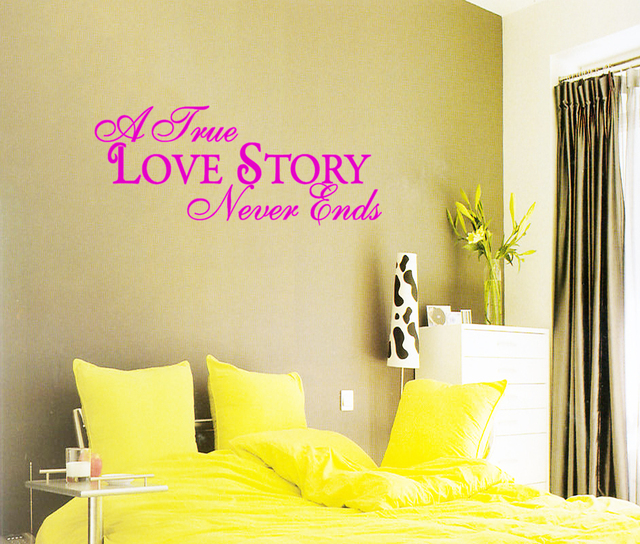 A True Love Story never ends Family Wedding Marriage Art wall ...
