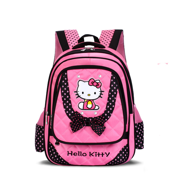 852cd5d907c4 Newest Hello Kitty Designer Backpack Girl School Bags Primary School  Students Schoolbags For Girls For Grade1-6 Girl Book Bag