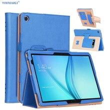 Huawei MediaPad M5 Lite 10 deri kılıf standı Tablet kapak için Huawei M5 lite 10.1 BAH2 W19 BAH2 L09 BAH2 W09 + film