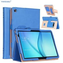 Per Huawei MediaPad M5 Lite 10 di Cuoio di Caso Del Basamento Tablet Cover Per Huawei M5 lite 10.1 BAH2 W19 BAH2 L09 BAH2 W09 + film