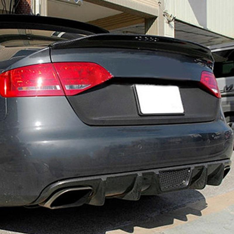 A4 B8 berline modifiée Style Caractere en Fiber de carbone arrière compartiment à bagages aileron aile de voiture pour Audi A4 2009 2010 2011 2012