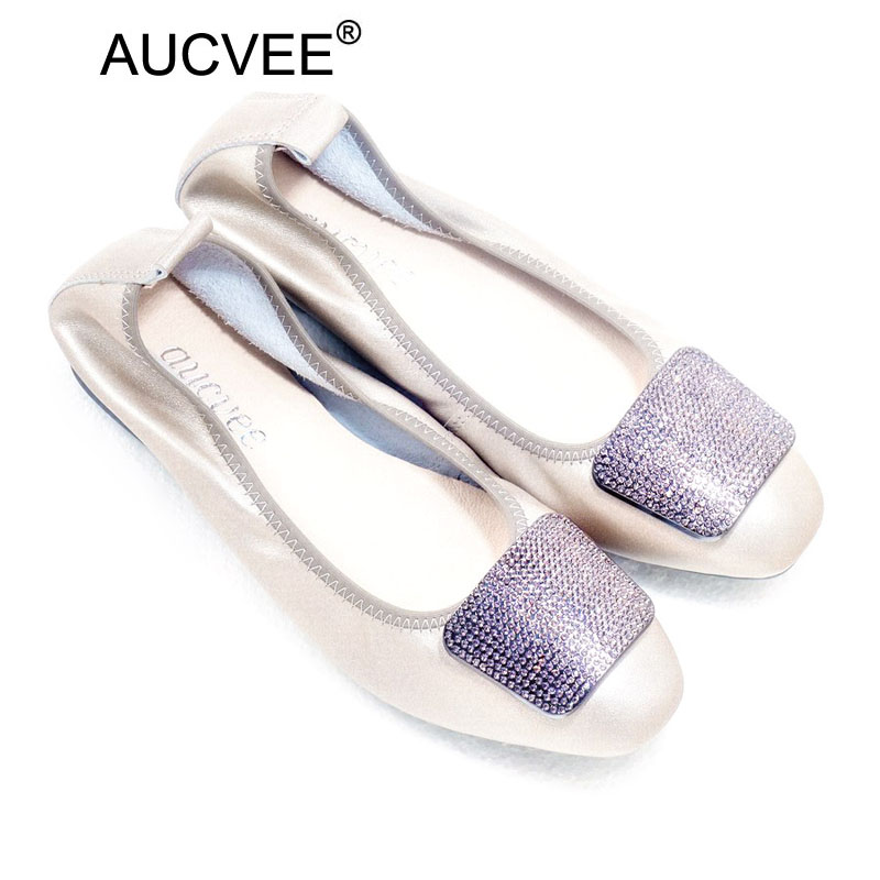 Women Spring Ballet Flats Genuine Leather Ballerina Luxury Shoes Women Designers Causal Slip-on Silver Loafer Shoes For Women