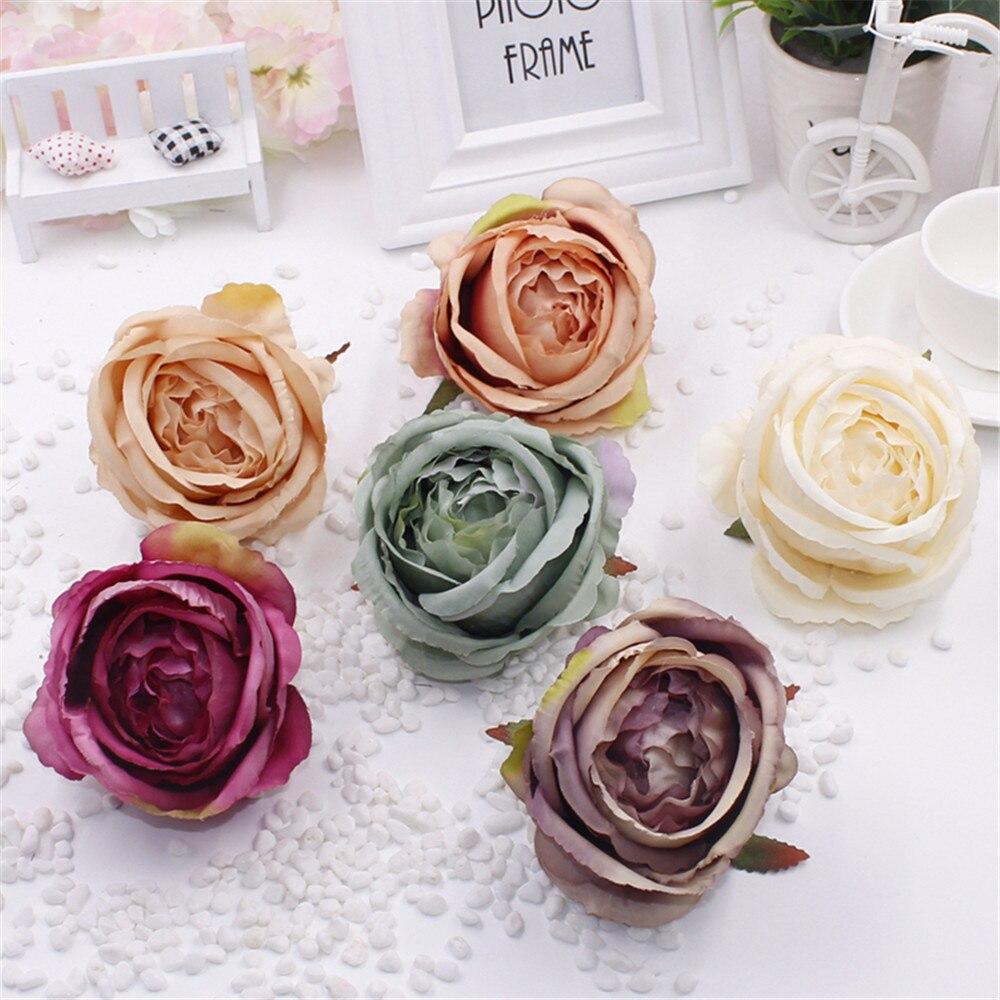 1pcs 10cm Big Silk Artificial Rose Flower Head Wedding Decoration