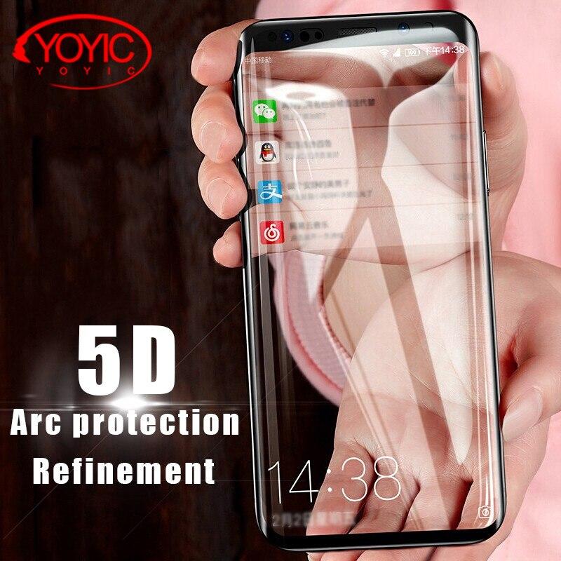 YOYIC 5D <font><b>Curved</b></font> Full Cover <font><b>Tempered</b></font> <font><b>Glass</b></font> For Samsung Galaxy S8 S9 Note 8 <font><b>Screen</b></font> <font><b>Protective</b></font> <font><b>Film</b></font> For Samsung S8 S9 Plus <font><b>Glass</b></font>