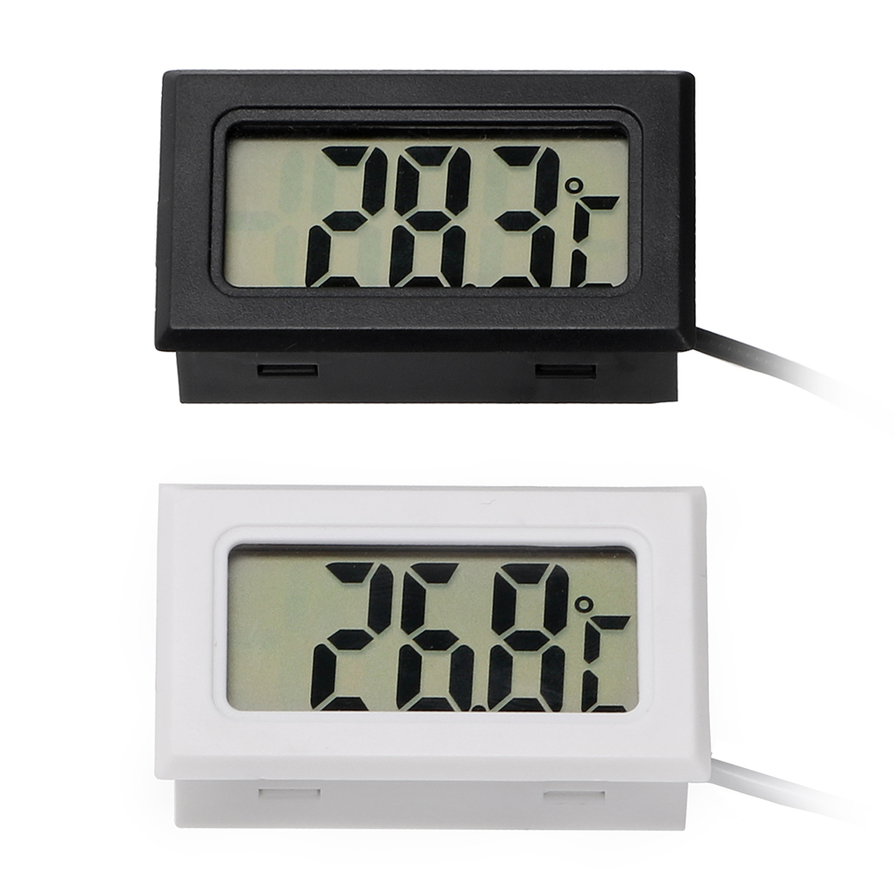 LEEPEE Car-Styling Car Thermometer Car Ornaments For Fish Tank Refrigerator Temperature Gauge Meter Digital Clock LCD Display