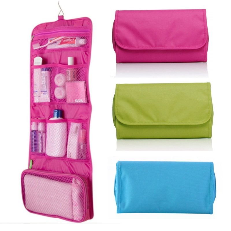 Aliexpress Hot Womens Travel Toiletry Bag Foldable Hanging Wash Cosmetic Makeup Storage Multi Functional Portable Organizer Pouch From