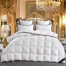 2018 King queen ПОЛНЫЙ Twin размеры 100% гусиный пух белый кашне постельные принадлежности набор покрывало одеяло пледы кровать Стёганое одеяло edredon colcha