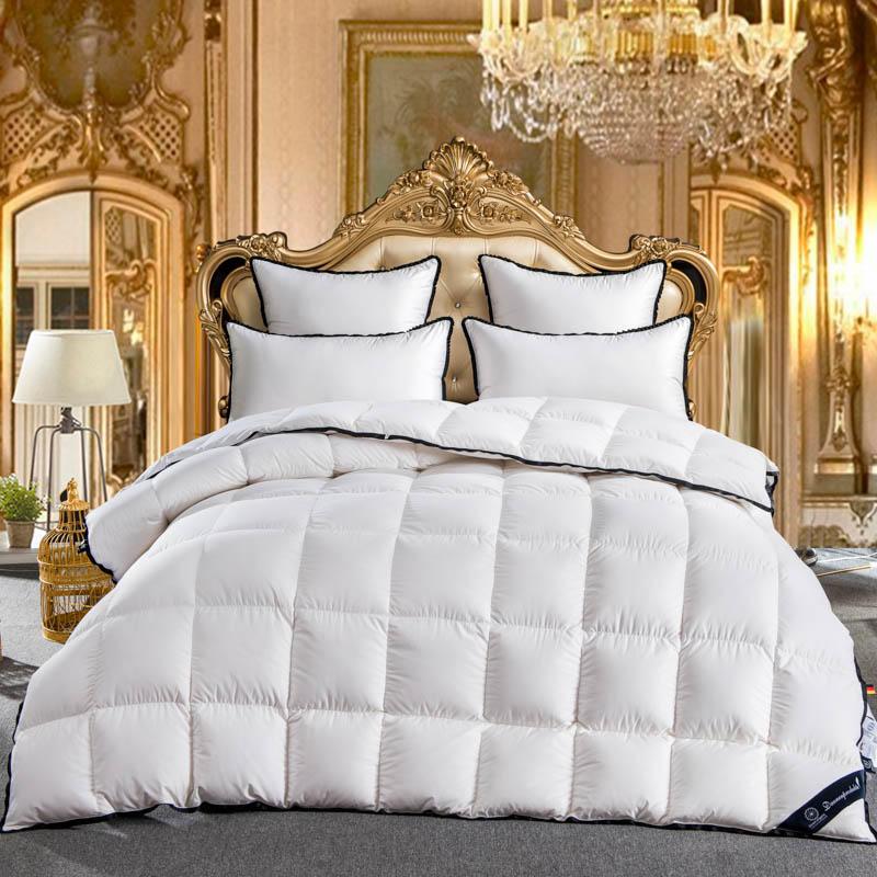 2018 rainha do rei tamanho gêmeo completo 100% ganso para baixo branco consolador conjunto de cama colcha colcha colcha colcha colcha colcha colcha colcha