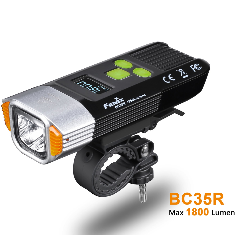 New Arrival 2018 Fenix BC35R 1800 Lumens Cree XHP50 Neutral White LED All-round USB Rechargeable Bicycle Light with OLED screen цена