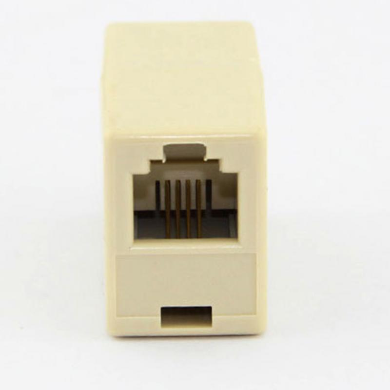 New RJ11 Line Splitter Extender Plug Adapter phone connector цена