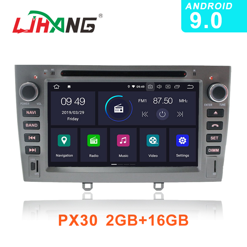 LJHANG Android 9.0 Car DVD Multimedia Player For <font><b>PEUGEOT</b></font> <font><b>308</b></font> 408 308SW <font><b>GPS</b></font> Navi WIFI 2 Din Car Radio Stereo Headunit Auto RDS SD image