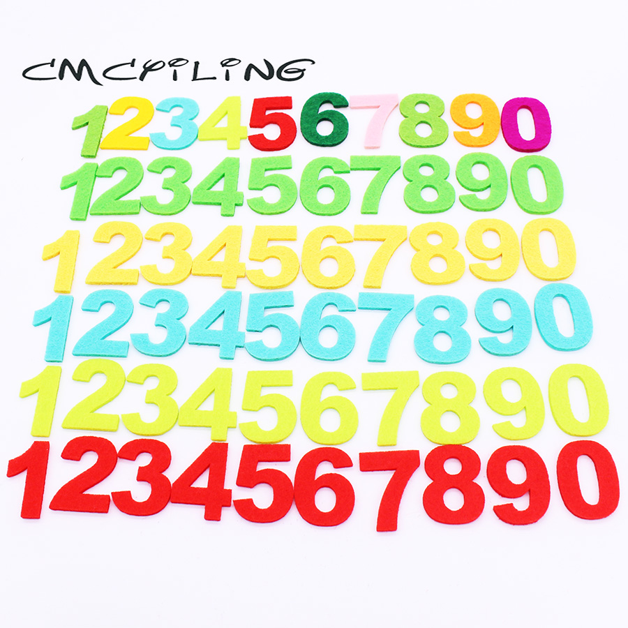 CMCYILING 10pcs Felt Numbers 0-9 For Needlework Sewing Craft Scrapbooking Home Decoration 3mm Thick Felt Materials