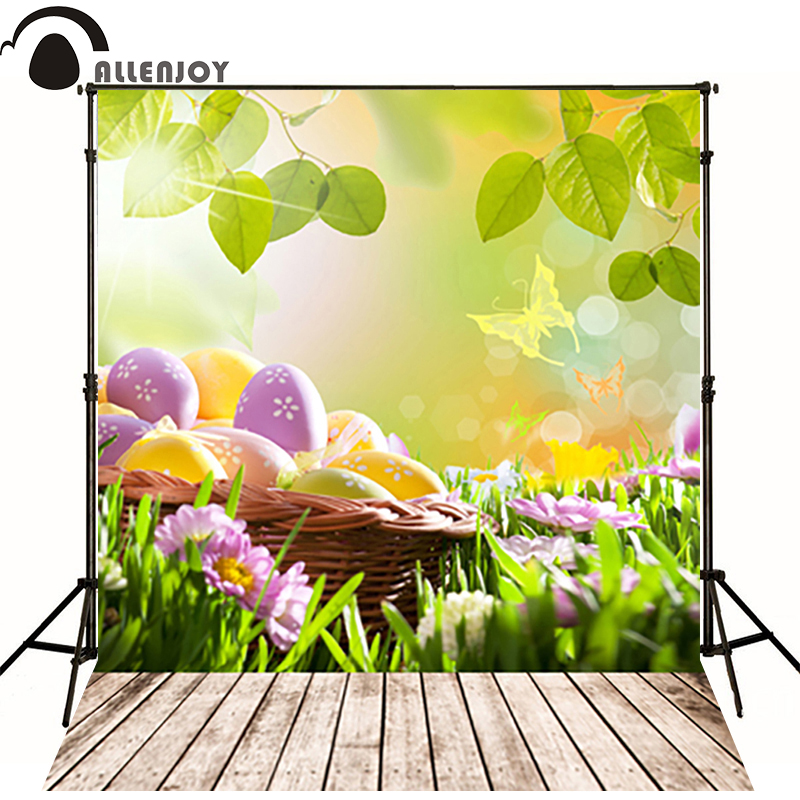 Allenjoy easter basket Butterfly photography backdrops spring photography background photo studio background