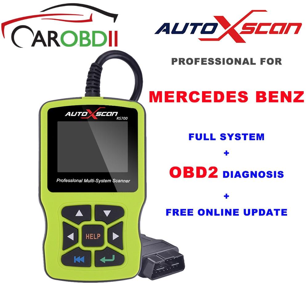AUTOXSCAN RS700 OBD2 инструмент диагностики товара сканер для MERCEDES OBD2 EOBD Авто BENZ воздушная подушка SRS ABS Двигатель, чем создатель C502