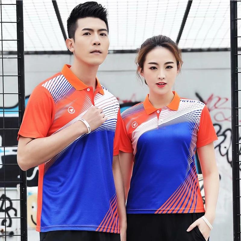 Sportswear Quick Dry Breathable Badminton Polo Shirt Women Men Table Tennis Shirt Team Game Sports Golf Volleyball T Shirts Tennis Shirts Aliexpress