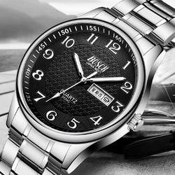 Top Brand BOSCK Luxury Fashion Men Watches Waterproof 30M Watches Calendar Men Wristwatches Erkek Kol Saati Relogio Masculino