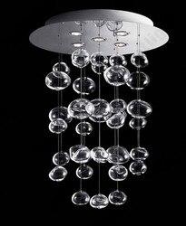 Nowy nowoczesny doprowadziły żyrandol szklane bańki eter żyrandol oprawa wysokość 80cm dla domu hali salon restauracja żyrandol