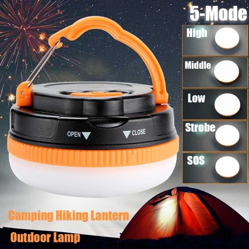 Portable Camping Lamp Night Light 150 Lumen Ultra Bright LED Camping Hiking Lantern Outdoor Camping Lantern Tent Lamp For 3xAAA