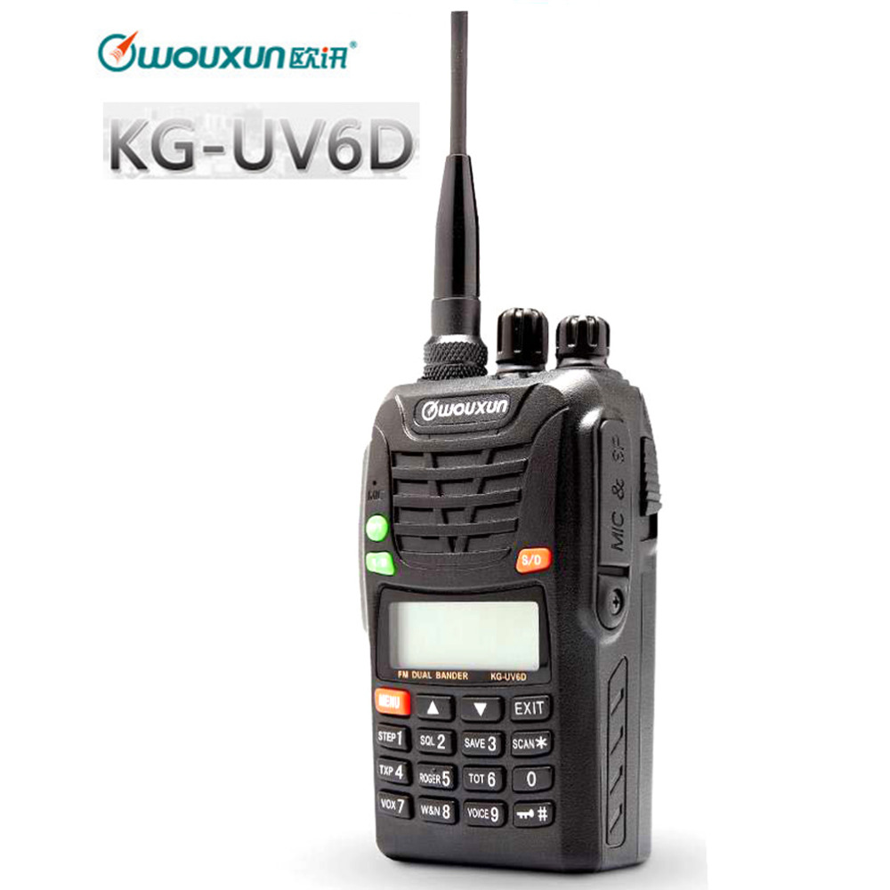 BAOFENG UV6D Two Way Ham Radio Dual Band 400-480MHZ UHF 128CH Walkie Talkie