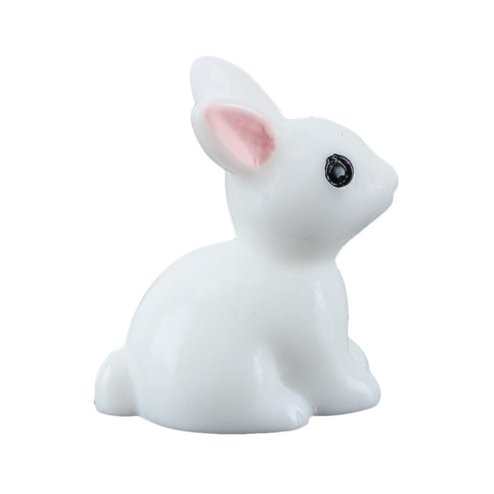10pcs/lot Lovely Mini Rabbit Animal Miniature Fairy Garden Decoration Doll House Terrarium Decor Ornament Toys