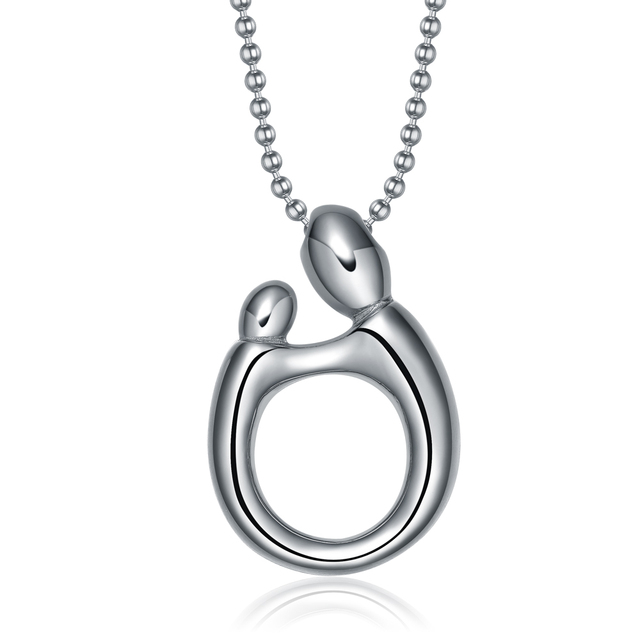 New stainless steel jewelry loving family figures necklace fashion new stainless steel jewelry loving family figures necklace fashion jewelry mother child pendant necklace mothers day aloadofball Image collections
