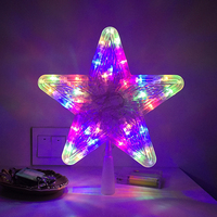 Christmas tree top star festival lighting decoration LED holiday party lights 3AA batteries operated xmas tree light decor
