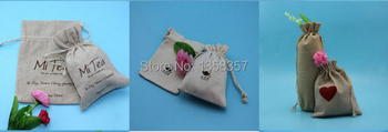 100pcs/lot wholesale jute/linen/flax drawstring gift bags for toiletry/IPAD mini packaging,Size be customized,Various colors