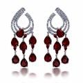 Amor Brincos de Luxo-Marcas Em Destaque Fine Jewelry Synthetic Cubic Zirconia mulheres formal Nupcial brincos gota de cristal