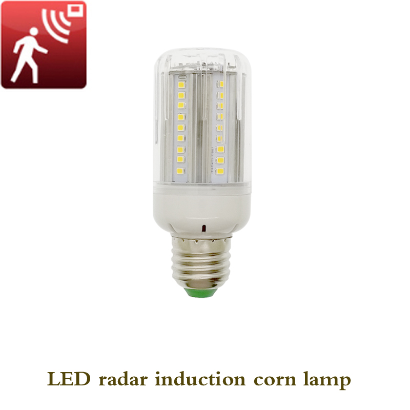 E27/E26 85-265V 72LED 30W LED Radar Induction Corn Lamp Body Motion Sensing Bright Night Lighting Human Induction Sensor Lights