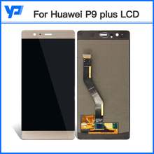 LCD Display Digitizer Touch Screen Assembly Replacement For Huawei P9 Plus Smartphone 5.5inch White/Black/gold free shipping