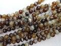 ( 5 fios / set ) 6 mm café ágata onyx rodada semi preciosas pérolas de pedra para jóias