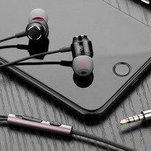 Мини-вкладыши Наушники 3,5 мм проводные наушники стерео наушники с микрофоном для телефона ПК MP3 глубокий бас гарнитура спортивные наушники
