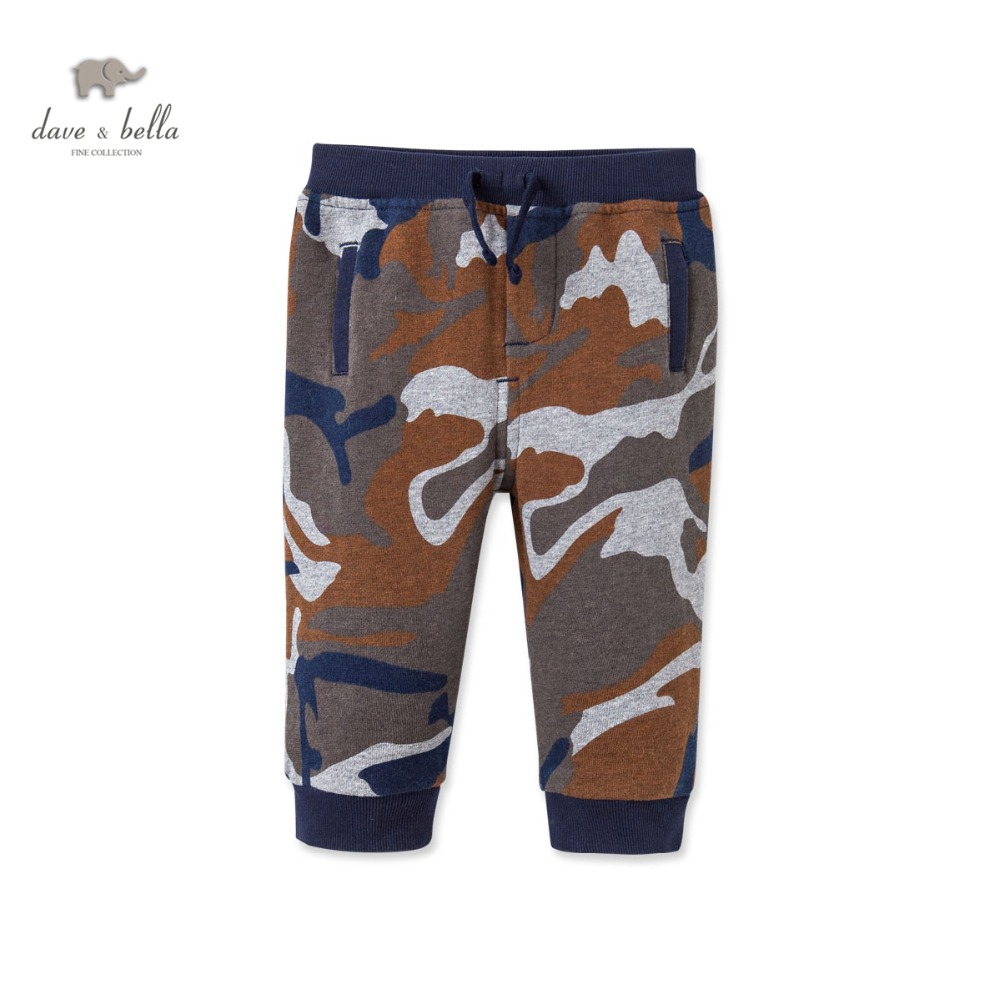DB2972 dave bella spring autumn baby boys camouflage printed pants babi trousers kids  clothes kids trousers children pants штаны для мальчиков 2014 new fashion spring autumn children pants 1 ccc325 casual camouflage trousers for boys sports
