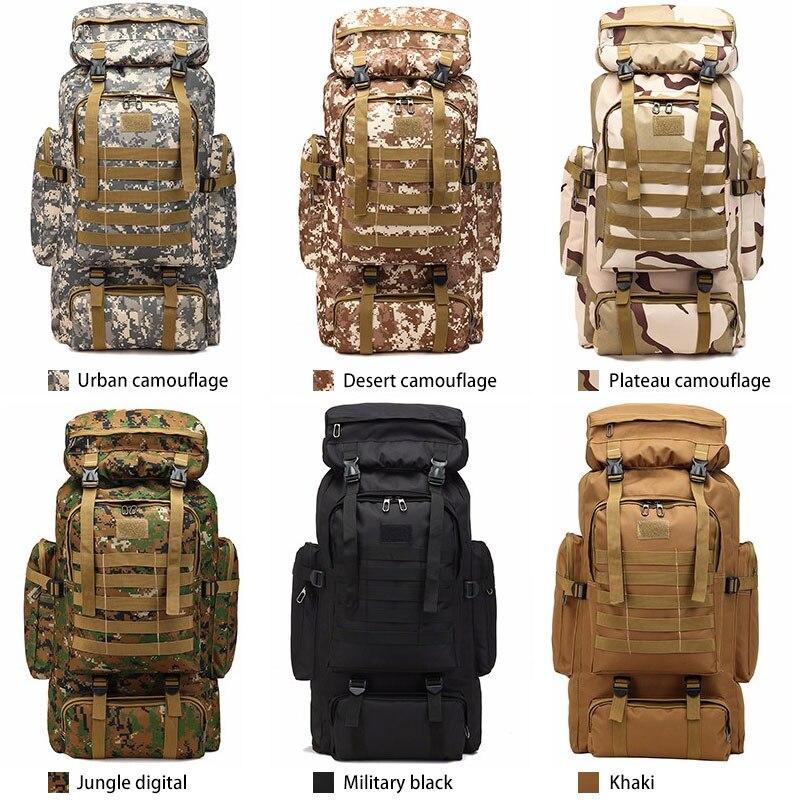 Extérieur 80 L sports imperméable escalade randonnée tactique sac à dos sac militaire Molle sac à dos Camping trekking sac à dos