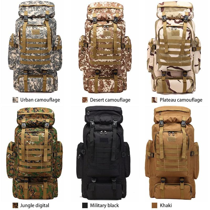 Outdoor 80L Sports Waterproof Climbing Hiking Tactical Backpack Bag Military Molle Backpack Camping Trekking Bag Rucksack
