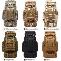Outdoor 80 L sports Waterproof Climbing Hiking Tactical Backpack Bag Military Molle backpack Camping trekking bag rucksack